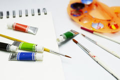 Color set and painting Royalty Free Stock Images