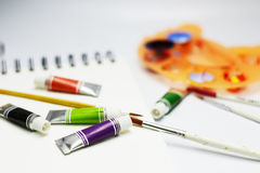 Color set and painting Stock Photography