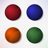 Color set of round blank buttons. Vector eps 10 Stock Photography