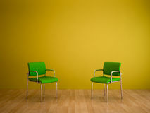 Color Shades -Green Chairs Royalty Free Stock Photo