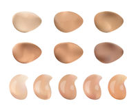 Color Shades Palette For Foundation Make Up. Isolated On White Background. Color Shades Palette For Foundation. vector illustration Stock Photo