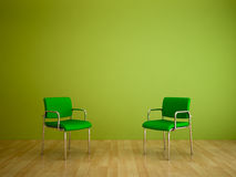 Color Shades-Two Chairs Royalty Free Stock Photography