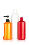 Color shampoo bottles Royalty Free Stock Photo