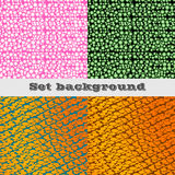 Color shape set abstract background. Vector illustration Stock Photography