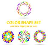 Color Shape Set Simple Royalty Free Stock Photo