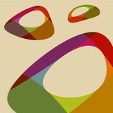 Color shapes with rounded holes. Abstract colorful shapes with holes. Vector Stock Image