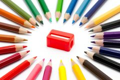 Color and sharpener Stock Photography
