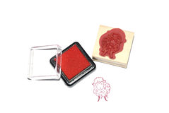 Color sheep stamp Stock Photos