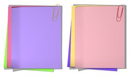 Color sheets of a paper for record 01 Stock Photos