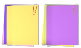 Color sheets of a paper for record Royalty Free Stock Photo