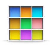 Color shelf Stock Photography