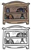 Color shelf Stock Photos