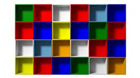 Color shelves Stock Photography