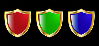 Color Shield Set Stock Photography