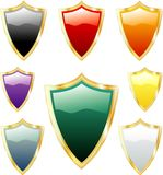 Color shields Royalty Free Stock Photos