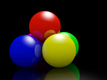 Color shine Spheres Royalty Free Stock Photography