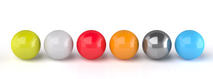 Color shine Spheres Royalty Free Stock Photo