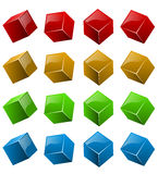 Color shiny 3D cubes Stock Photography