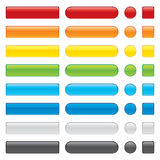 Color shiny buttons Stock Photo