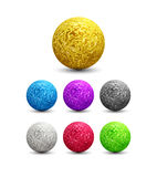 Color Shiny metallic Spheres set. Vector illustration Royalty Free Stock Images