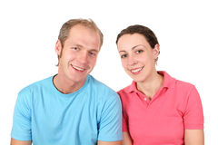Color shirt couple Stock Photography