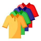 Color shirt polo set Stock Photos