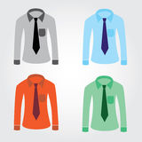 Color shirts with tie eps10. Four color shirts with tie eps10 Stock Illustration