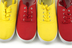 Color shoes  closeup Royalty Free Stock Images