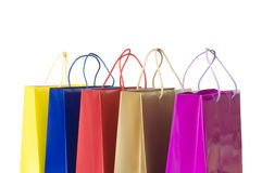 Color shopping bags Stock Images