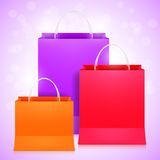 Color Shopping Bags Stock Image
