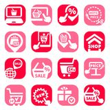 Color shopping  icons Royalty Free Stock Photo