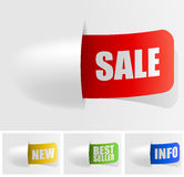 Color shopping tags Royalty Free Stock Image