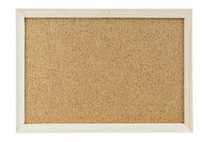 Color shot of a brown cork board in a frame. Stock Photos