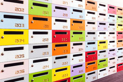 Color shot of some lockers stock images