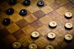 Checkers game royalty free stock image