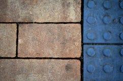 Color sidewalk Stock Images