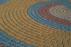 Color sidewalk tile Stock Photography