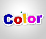Color Sign Means Multicolored Colorful And Vibrant Stock Photo