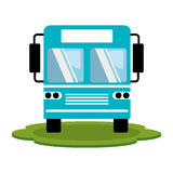 Color silhouette of bus front view Royalty Free Stock Images