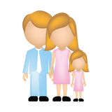 color silhouette faceless with dad mom and daughter in formal clothes Stock Photo