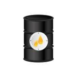 Color silhouette with oil barrel. Illustration vector illustration