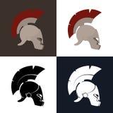 Color and Silhouette Roman Helmet Stock Photos