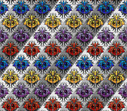 Color silk pattern Royalty Free Stock Photos