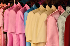 Color silk shirts Stock Photo
