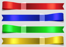 Color silk strips with tape Stock Image