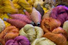Color silk thread Royalty Free Stock Photos
