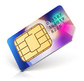Color SIM card Stock Image