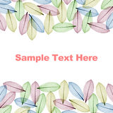 Color Skeleton leaves for background and text Royalty Free Stock Photos