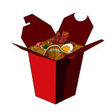 Color Sketch of Chinese food in a box Stock Photo