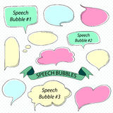 Color sketch speech bubble. Vector illustration Royalty Free Stock Photography